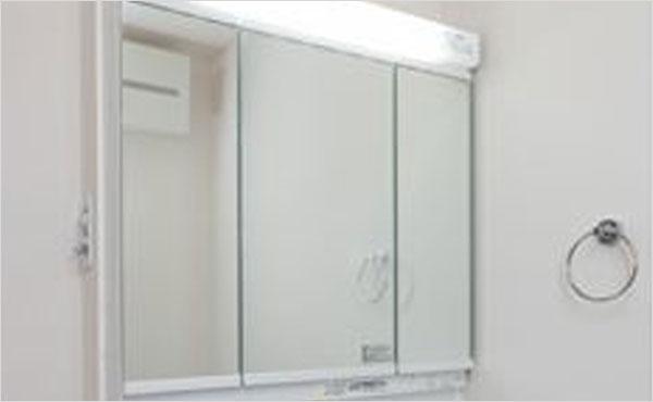 3面鏡(全収納タイプ)LED照明
