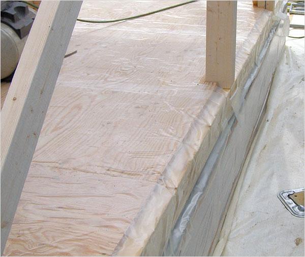 床パネル貼り